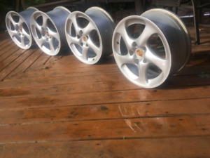 Porsche OEM Turbo Twist Hollow Spoke Wheels