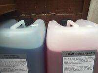 Car wash chemicals hi foam, TFR, four different types