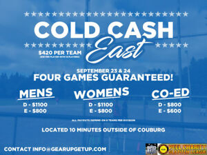 COLD CASH SOFTBALL TOURNAMENT