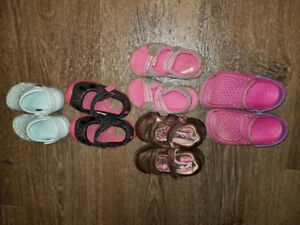 4t to 7t girl shoe lot