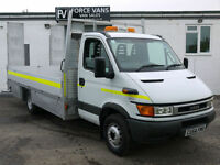 IVECO DAILY 65C17 3.0 TD PLANT GANG MOWER DROPSIDE TRANSPORTER BEAVER TAIL VAN