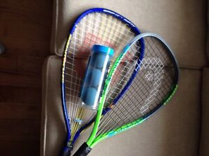 2 Racquetball racquets and balls