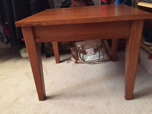Wood Coffee and two end tables set Cambridge Kitchener Area image 1