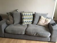 3 & 2 seater sofa with matching storage foot rest
