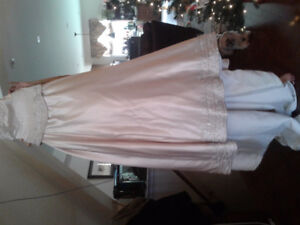 Signature Embroidered off white wedding dress