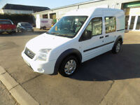 FORD TRANSIT CONNECT FACTORY CREW VAN 1.8TDCI LWB HIGH ROOF 2010 10