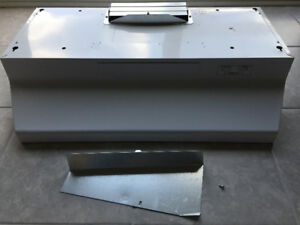 BROAN kitchen stove white range hood - never used