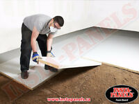 Why heat the concrete when all you need to do is insulate?