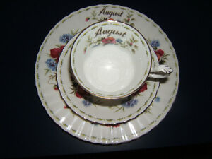 ROYAL ALBERT CHINA AUGUST SET PLATE AND CUP/SAUCER