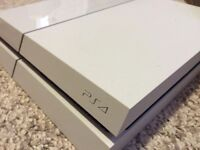 White PS4 w/one controller and games