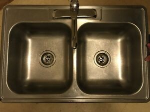 Kichen Sink Stainless with Moen Faucet 474-8669 cheap $45.00
