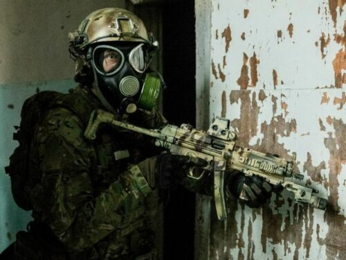 Russian Army modern GAS MASK PMK-3 with drinking system in FULL SET