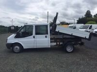 LOW MILES ford transit tipper crew cab