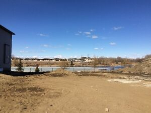 GREAT LOTS BACKING POND IN STONY PLAIN