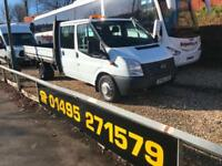 2014 64 FORD TRANSIT CREWCAB DROPSIDE TIPPER / LOW MILES