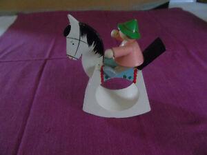 VINTAGE HAND MADE ROCKING HORSE FOR CHILD'S NAPKIN HOLDER