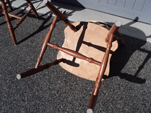 """CHAIRS!! (3)""""HONEY"""" COLOURED  ~ (2) ALL WOOD """"LIGHT COLOURED"""" Windsor Region Ontario image 3"""
