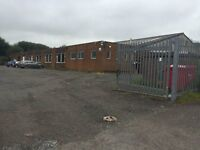 TO LET (may split) Single Storey industrial/engineering/factory or warehouse unit with offices yard