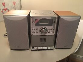Sound System CD Player and Speakers