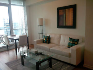 July 16: Furnished 1 Bedroom + Den downtown suite next to Union