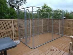 Large dog kennel. 6ft high x 5ft wide x 10 ft long.