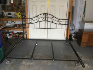 King size headboard and bedframe