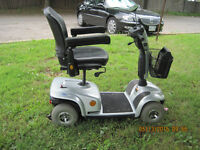2015 invacare leo new mobility scooter with  1 year warranty