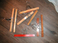 7 wooden and 5 plastic pant/skirt hangers