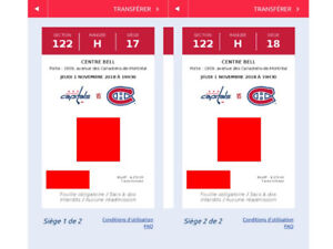 *** Canadien vs. Washington, jeudi 1 nov. 2018, Rouge 122H 17-18