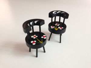 Vintage dollhouse furniture -- occasional chairs