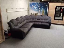 Large grey right hand sofa new