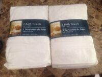 Brand New White Towels