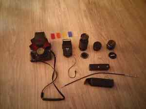Ricoh 35mm slr camera and accessories