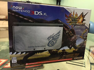 New 3DS XL Édition Monster Hunter 4 *IPS*+Chargeur+Jeu+MicroSD+