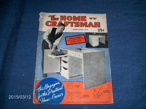 THE HOME CRAFTSMAN-3/1939-VINTAGE BACK ISSUE MAGAZINE
