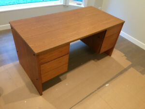 Office Desk, Wooden Drawers with Arborite top