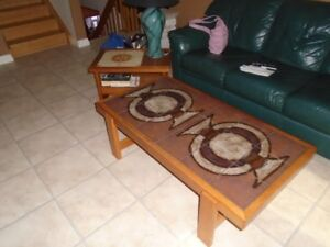 Excellent Teak coffee table and Teak end table.