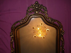 "Superbe miroir antique/1940, style Louis XVI, grand 27""x60"" doré West Island Greater Montréal image 4"