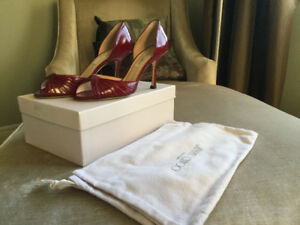 Jimmy Choo Patent Leather Red shoes sz 38