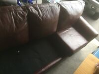3 person Leather couch