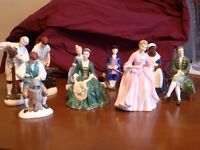 Royal Doulton Complete Collection of Williamsburg Figurines (9)