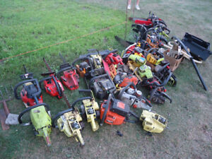 Lot of Chainsaws for parts or restoration. Chainsaw