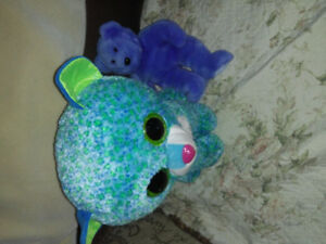 Ty large leona and smaller ty blue bear