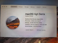MacBook Pro, Early 2011; Upgraded RAM and to SSD. Very FAST SSD