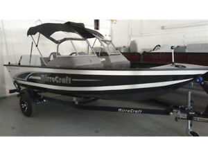 MirroCraft 1687 Troller boat w/convertible top, 50hp & trailer
