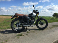 SILVER MUTT MONGREL 125CC COOL RETRO MOTORBIKE MOTORCYCLE STREET RACER
