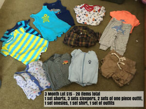 Twin Boy Clothing 3M to 24M Lots