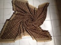 Louis Vuitton scarf ,brown,blue,black grey available