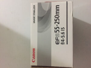 Canon efs 55-250 mm lens absolute mint condition in the box