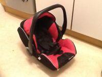 Recaro baby car seat and brand new isofix base